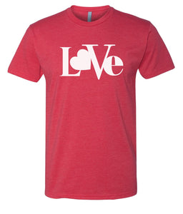 red love valentines day t-shirt