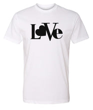 Load image into Gallery viewer, white love valentines day t-shirt