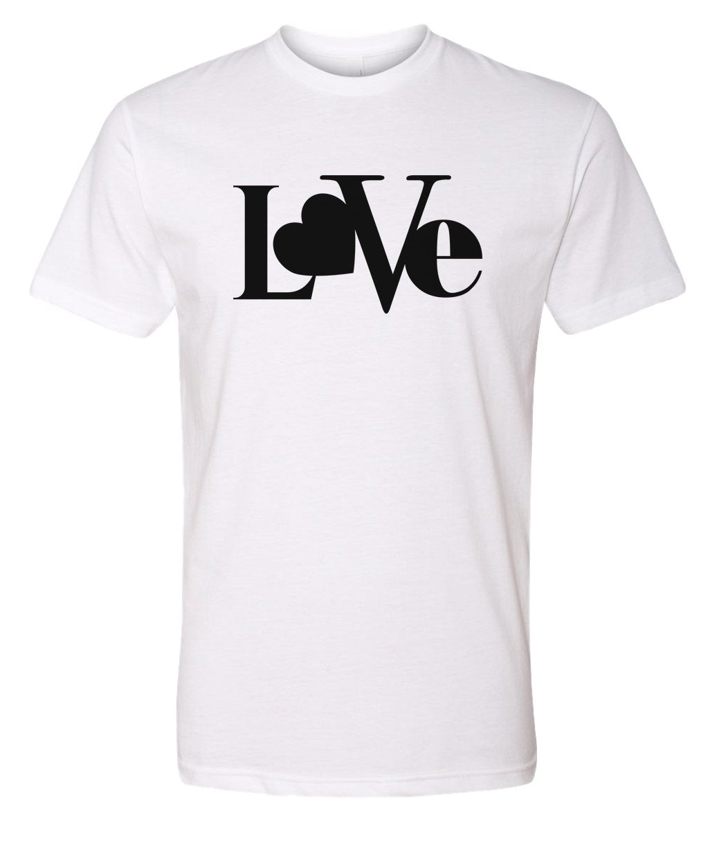 white love valentines day t-shirt