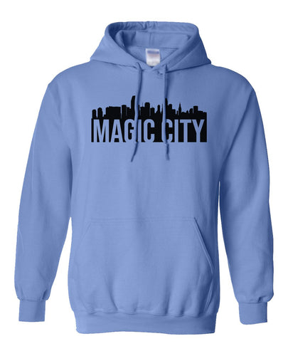 blue Miami Magic City Hoodie