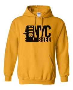 yellow New York City hoodie