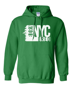 green New York City hoodie