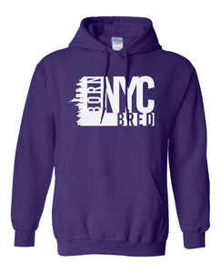 purple New York City hoodie