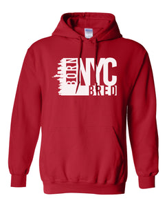 red New York City hoodie
