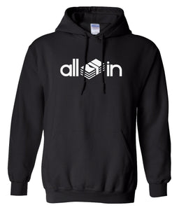 black all in pullover hoodie