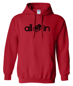 red all in pullover hoodie