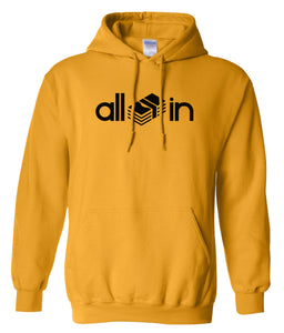 yellow all in pullover hoodie