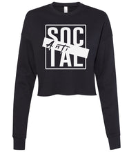 Load image into Gallery viewer, black antisocial cropped sweatshirt