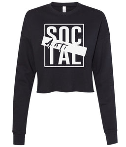 black antisocial cropped sweatshirt