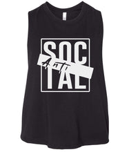 Load image into Gallery viewer, black antisocial cropped tank top