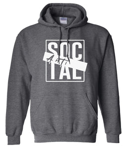 charcoal antisocial pullover hoodie