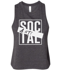 charcoal antisocial cropped tank top