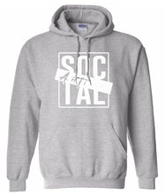 Load image into Gallery viewer, grey antisocial pullover hoodie