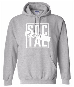 grey antisocial pullover hoodie