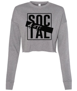 grey antisocial cropped sweatshirt