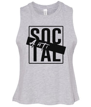 Load image into Gallery viewer, grey antisocial cropped tank top