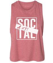 Load image into Gallery viewer, mauve antisocial cropped tank top