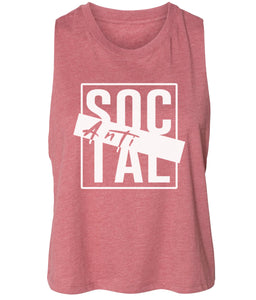 mauve antisocial cropped tank top
