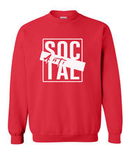 Load image into Gallery viewer, red antisocial crewneck sweatshirt