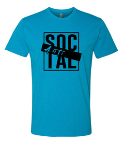 turquoise antisocial crewneck t shirt