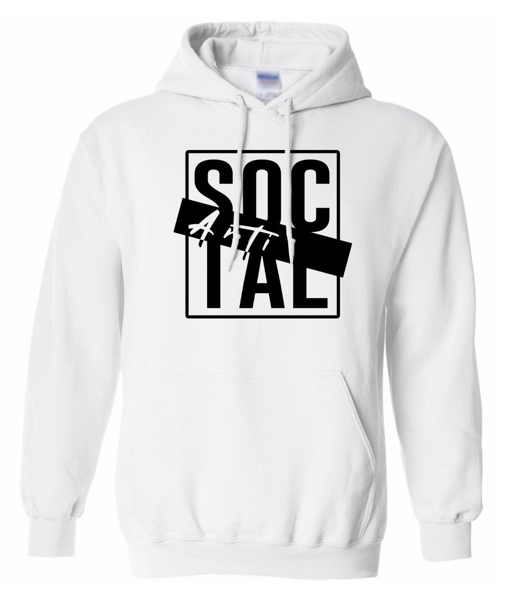 white antisocial pullover hoodie