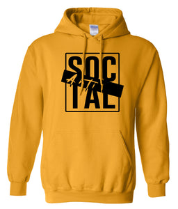 yellow antisocial pullover hoodie