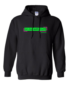 neon green florescent antisocial streetwear hoodie for men and women