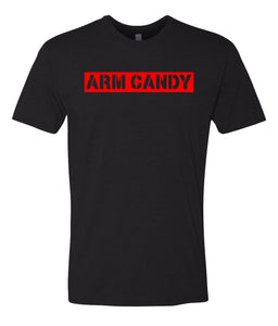 black arm candy crewneck t shirt