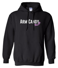 Load image into Gallery viewer, black arm candy hooded sweatshirt