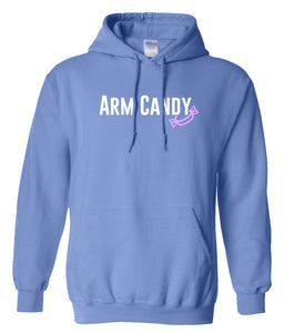 Carolina arm candy hooded sweatshirt