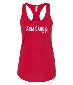 red arm candy racerback tank top