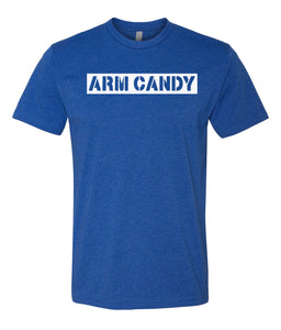 royal blue arm candy crewneck t shirt