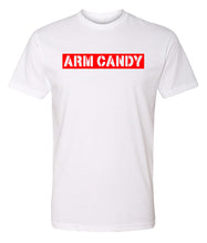 Load image into Gallery viewer, white arm candy crewneck t shirt