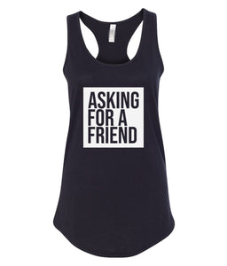 black for a friend racerback tank top