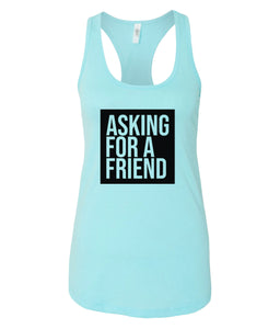 blue for a friend racerback tank top