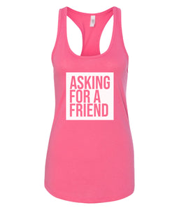 hot pink for a friend racerback tank top