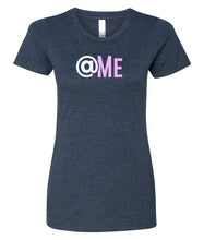 Load image into Gallery viewer, navy at me crewneck women's t shirt