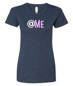 navy at me crewneck women's t shirt
