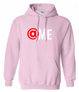 pink at me hooded sweatshirt