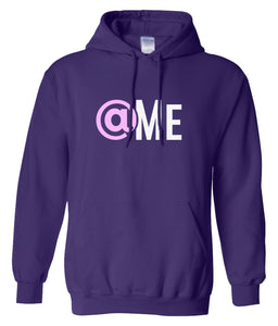purple at me hooded sweatshirt