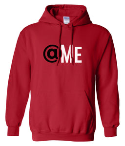red at me hooded sweatshirt