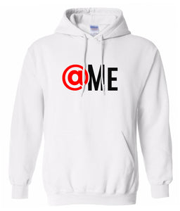 white at me hooded sweatshirt