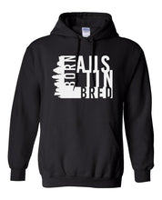 Load image into Gallery viewer, black Austin born and bred hoodie