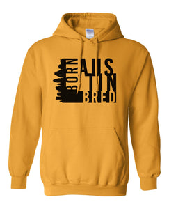 yellow Austin born and bred hoodie