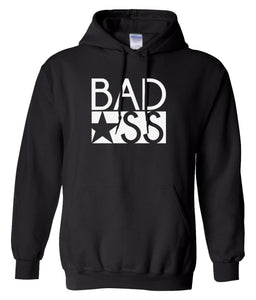 black bad ass pullover hoodie