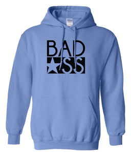 blue bad ass pullover hoodie