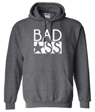 Load image into Gallery viewer, charcoal bad ass pullover hoodie