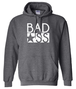 charcoal bad ass pullover hoodie