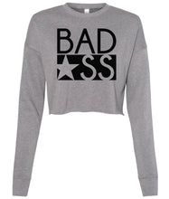 Load image into Gallery viewer, grey bad ass cropped sweatshirt