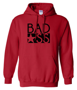 red bad ass pullover hoodie